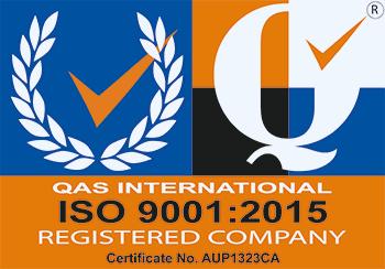 ISO 9001:2015 Cert. No. AUP1323CA
