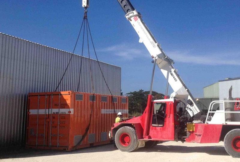 Crane loading CREATENERGY container